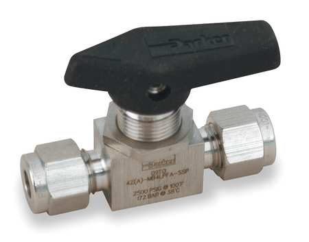 "3/8"" Compr Stainless Steel Ball Valve Inline"