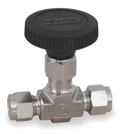 Needle Valve, Straight, 316 SS, 1/2 In.