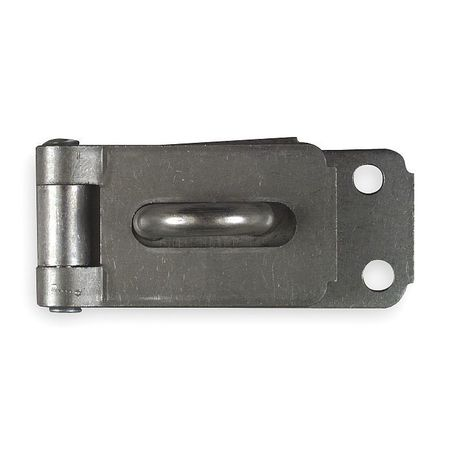Latching Hinge Hasp, Steel, 7-1/4 In. L