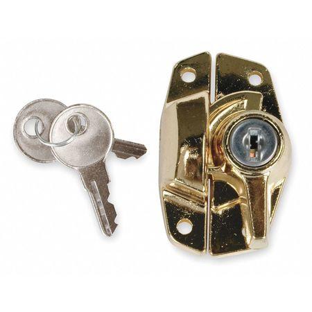 Keyed Alike Sash Lock, Bright Brass