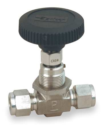 Needle Valve, Straight, 316 SS, 3/8 In.