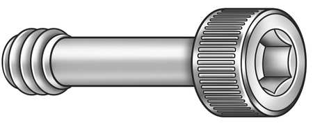 Panel Screw, Knurled, 4-40x1/4 L, Pk5