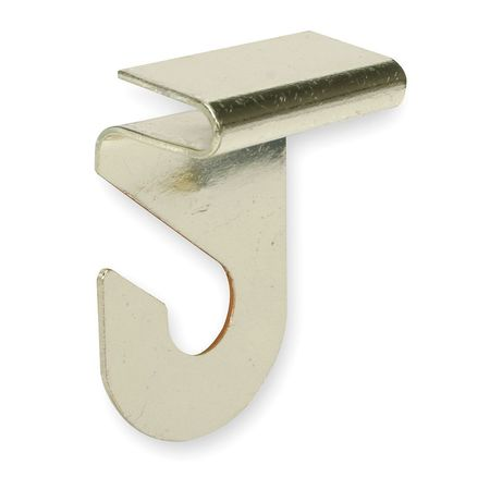 Suspended Ceiling Hook, Steel, Brass, PK2