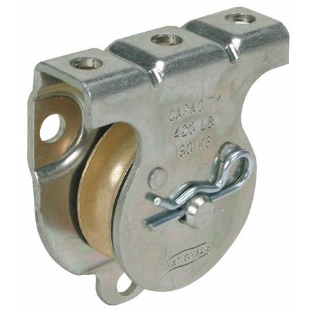 Wall/Ceiling Mount Pulley, Zinc