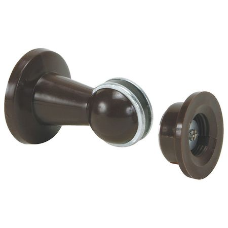 Magnetic Door Holder, Brown, Wall/Floor