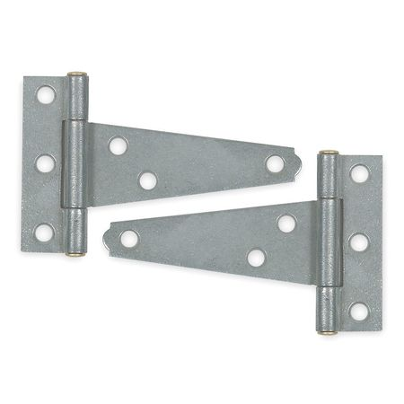 Tee Hinge, Steel, 1-1/2 In. L, PK2