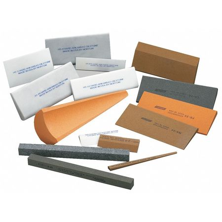 Sharpening File, Sq, A/O, Orange/Brn, Crs