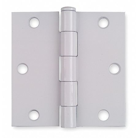 Square Corner Hinge, Full Mortise, Steel