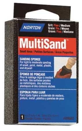 Sanding Sponge, Med/Fine, 4x2-3/4x1 In