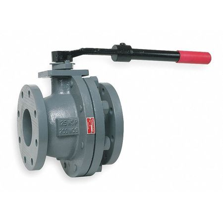 "3"" Flanged Cast Iron Ball Valve Inline"
