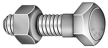 Structural Bolt, 1 1/8-7x4 3/4L, Pk5