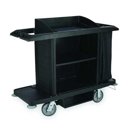 Housekeeping Cart, Black, Polypropylene