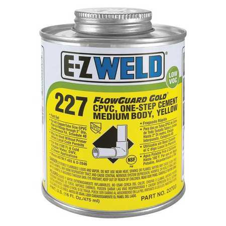 Cement, 16 Oz, Yellow, CPVC