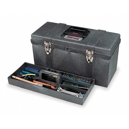 "20"" Portable Tool Box,  Black"