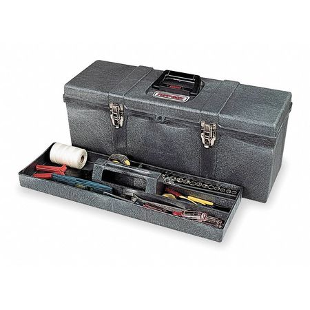 "26"" Portable Tool Box,  Charcoal Gray"