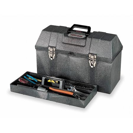 "20"" Hip Roof Tool Box,  Charcoal Gray"