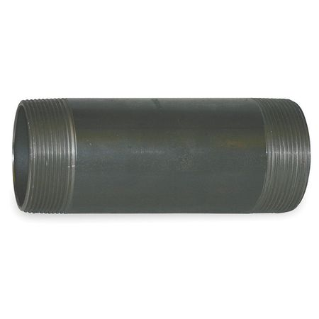 "4"" x 8"" NPT Threaded Black Pipe Nipple Sch 160"