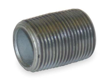 "1"" MNPT Threaded Galvanized Steel Close Pipe Nipple"