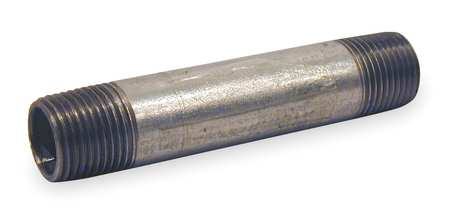 "1/2"" x 3"" MNPT Threaded Galvanized Steel Pipe Nipple"