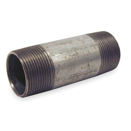 "1-1/4"" x 4"" MNPT Threaded Galvanized Steel Pipe Nipple"