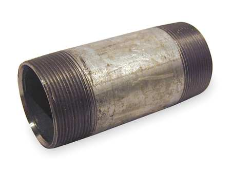 "2"" x 6"" MNPT Threaded Galvanized Steel Pipe Nipple"