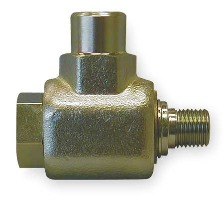 Swivel Joint, 1/2 In, Zinc Plated Steel