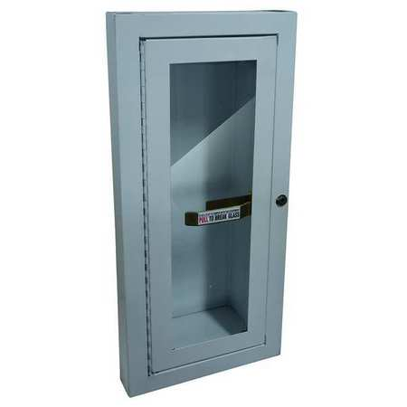 Fire Extinguisher Cabinet, 5 lb, White