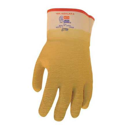 Cut Resistant Gloves, Yellow, L, PR