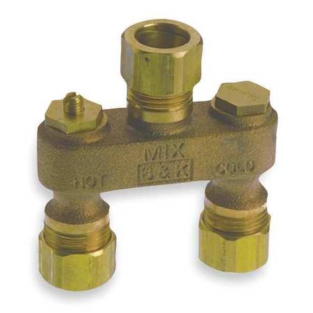 Anti Sweat Toilet Valve, 1/2 In, Brass