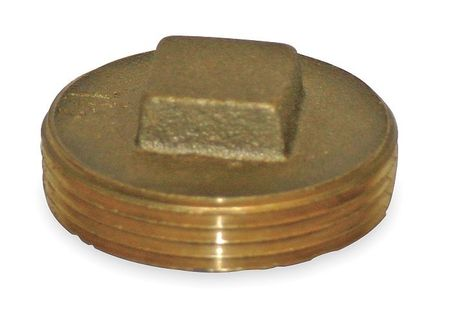 "2"" MNPT Brass Square Head Plug"