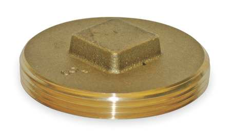 "3"" MNPT Brass Square Head Plug"