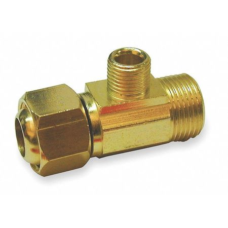"1/2"" x 1/4"" Compression Brass Supply Stop Extender Tee"