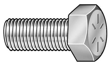 "7/8""-14 x 2-1/2"" Grade 8 Plain Hex Head Cap Screw,  5 pk."