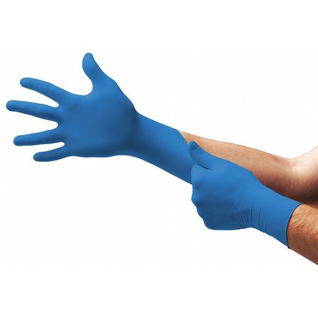 Touch N Tuff Gloves, Nitrile, S, Blue, PK100