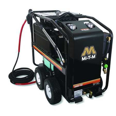 3000 psi 3.5 gpm Hot Water Electric Pressure Washer Diesel/Kerosene Fired Burner