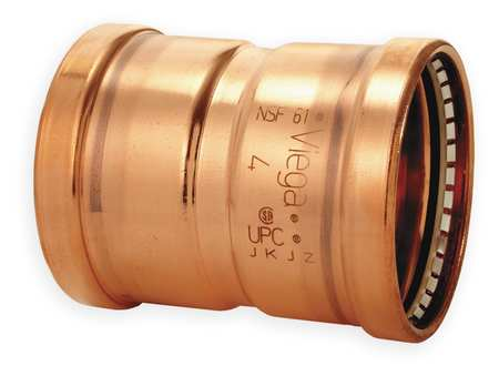 "2-1/2"" Press Copper Coupling with Stop"
