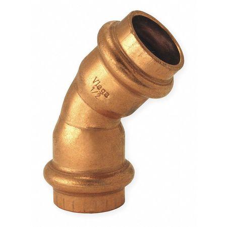 """1-1/2"""" Press Copper 45 Degree Elbow"""