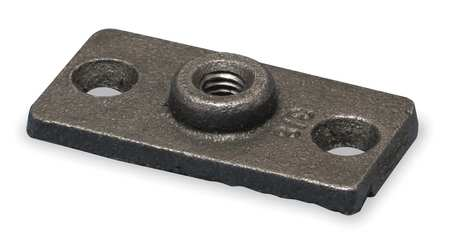 Ceiling or Wall Rod Hanger Plate, Iron