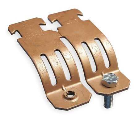 Copper Tubing Strut Clamp, Size 1/2 In