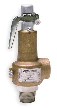 Safety Relief Valve, 1/2 x 3/4 In, 100 psi