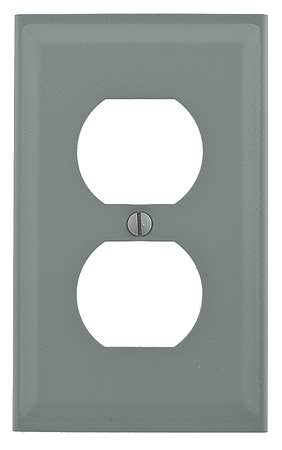 Single Receptacle Cover, Gray