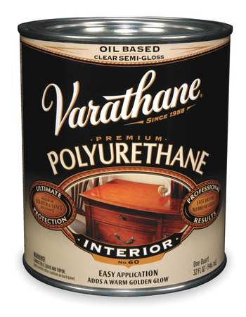 Polyurethane, Clear, Semi-Gloss, 1 gal.