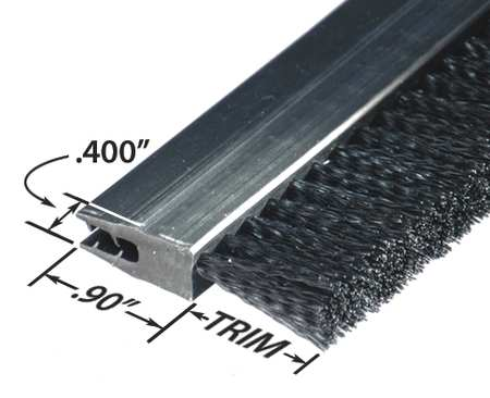Stapled Set Strip Brush, PVC, Length 36 In