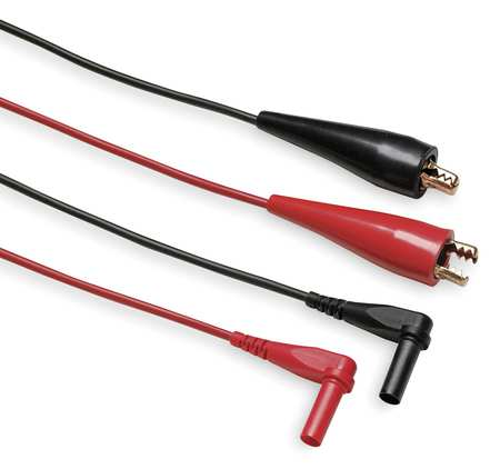 Test Leads, 60 In. L, Black/Red, 30VAC, PR