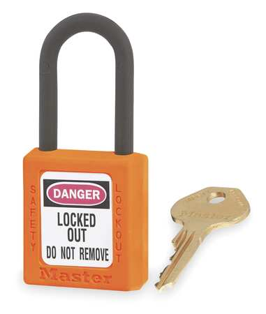 "Lockout Padlock, KD, Orange, 1-3/4""H"