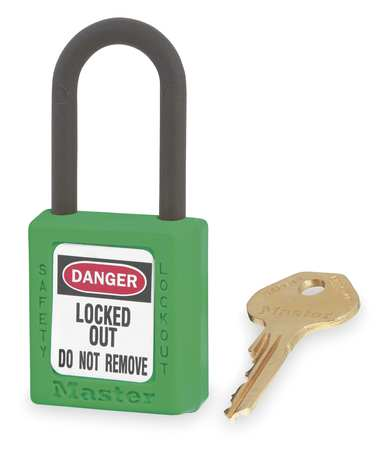 "Lockout Padlock, KD, Green, 1-3/4""H"