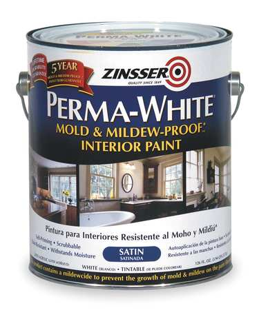 Latex Acryl InteriorWhiteSatin, 1gal