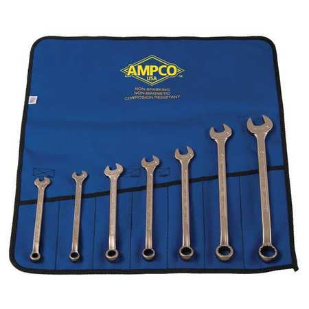 Combo Wrench Set, 3/8-7/8 in, 7 Pc