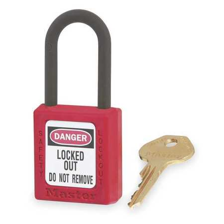 "Lockout Padlock, KD, Red, 1-3/4""H"
