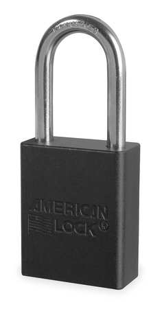 "Lockout Padlock, KD, Black, 1-7/8""H"